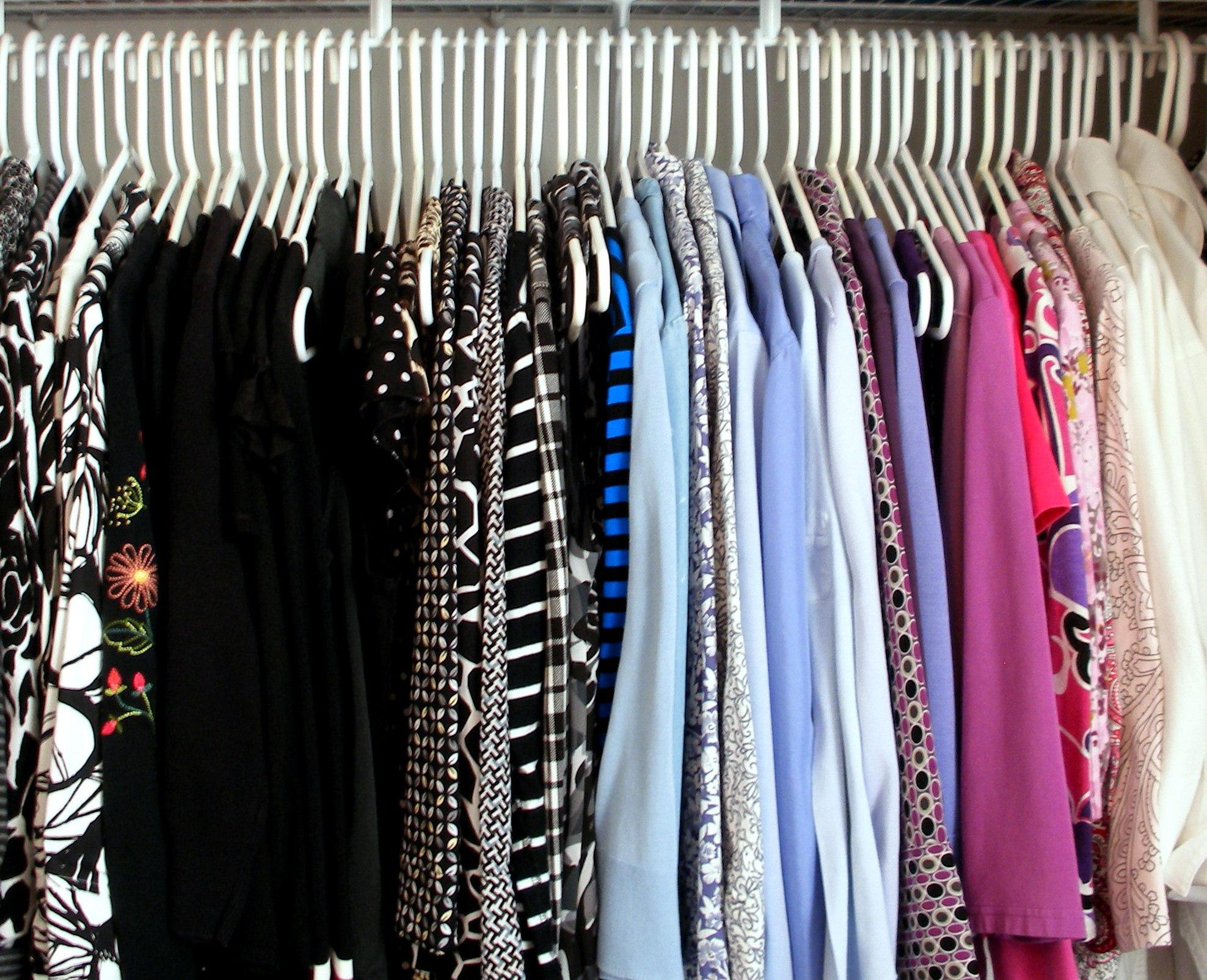 Closet Reorganization Hanging Clothes